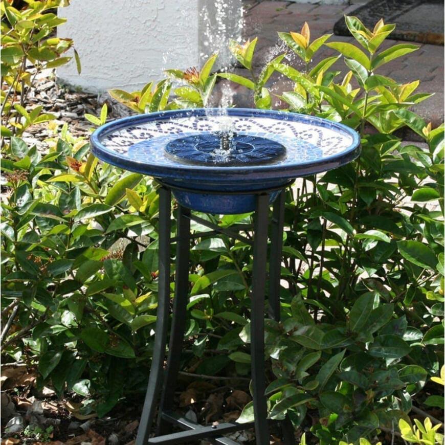 Glass Bird Bath Fountain