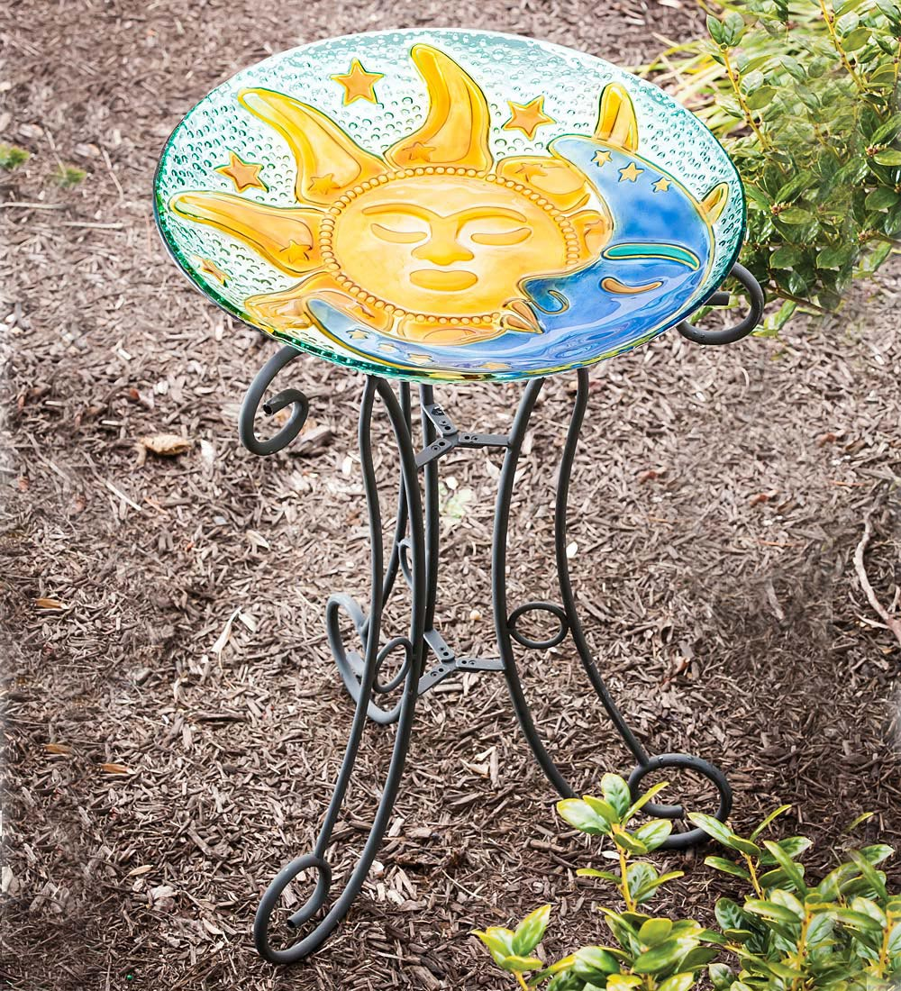 Glass Bird Bath Stands