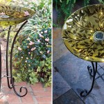 Glass Bird Baths with Stand