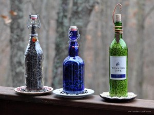 Glass Bottle Bird Feeder Homemade