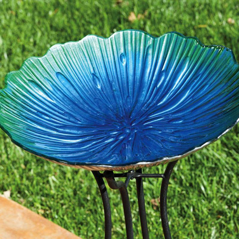 Glass Bowl Bird Baths