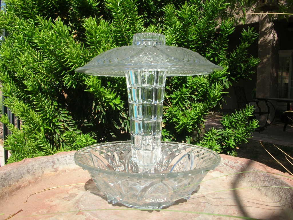 Glass Dish Bird Feeders