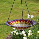 Glass Dragonfly Bird Bath