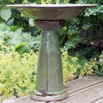 Glazed Ceramic Bird Baths