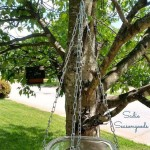 Hanging Glass Bird Bath Outdoor Living