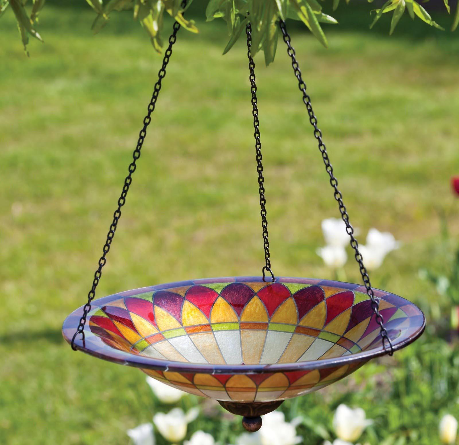 Hanging Glass Bird Bath