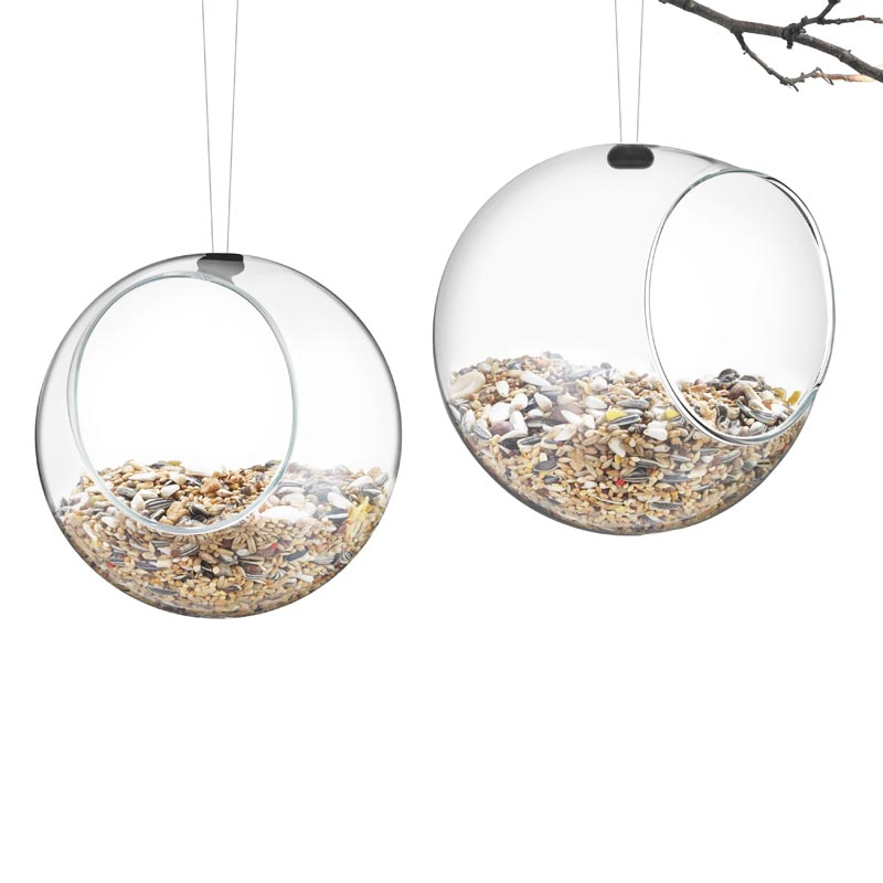 Hanging Glass Bird Feeders