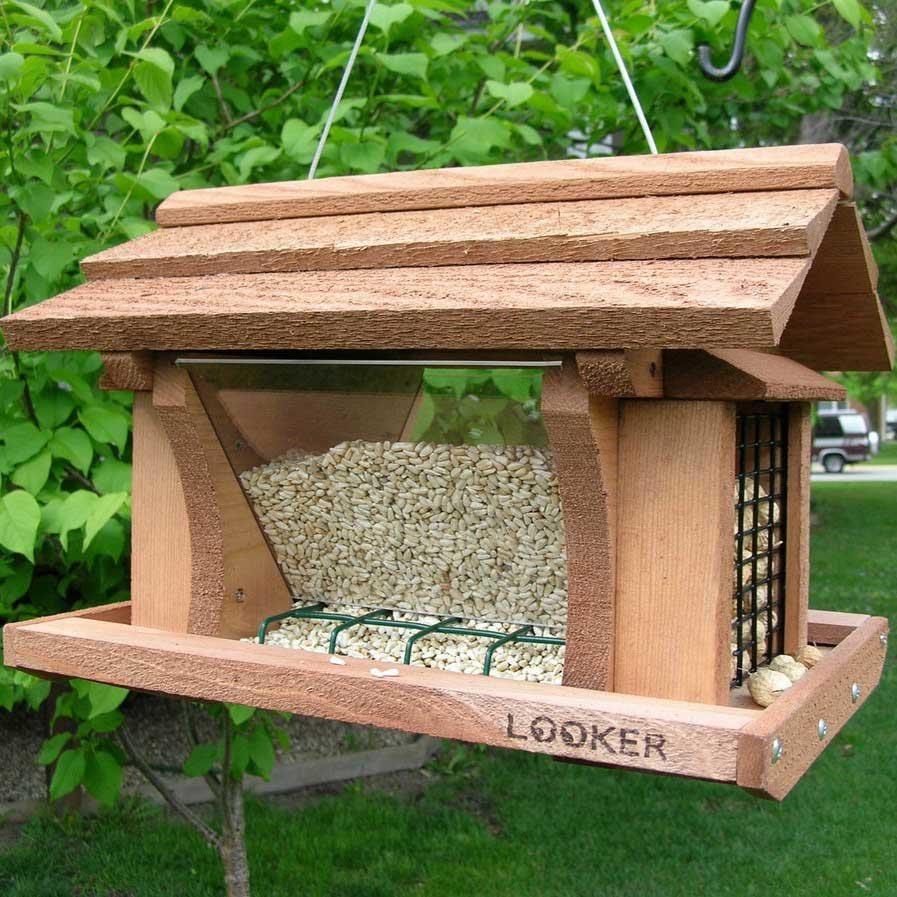 Hanging Wooden Bird Feeders