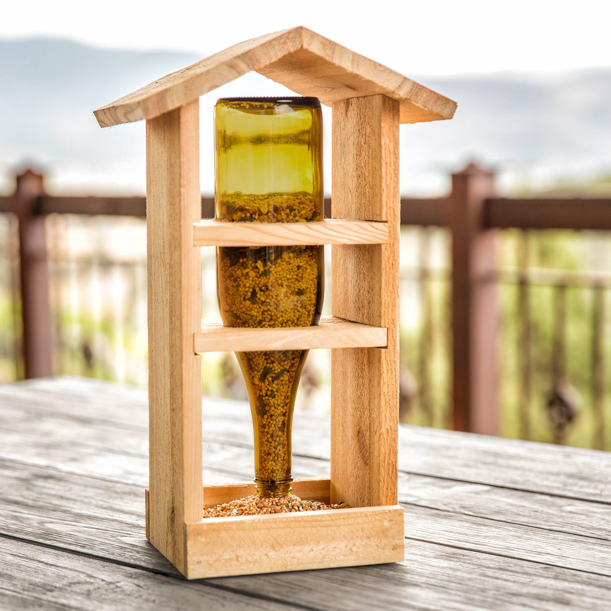 Homemade Wooden Bird Feeders