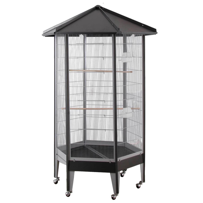 HQ Hexagonal Aviary Bird Cage