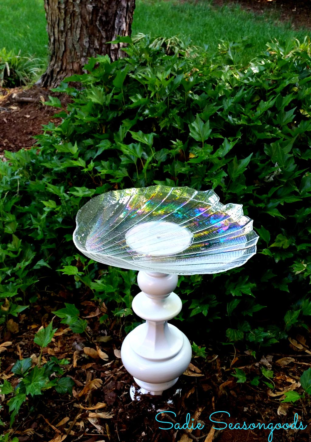 Improvements Hanging Glass Bird Bath