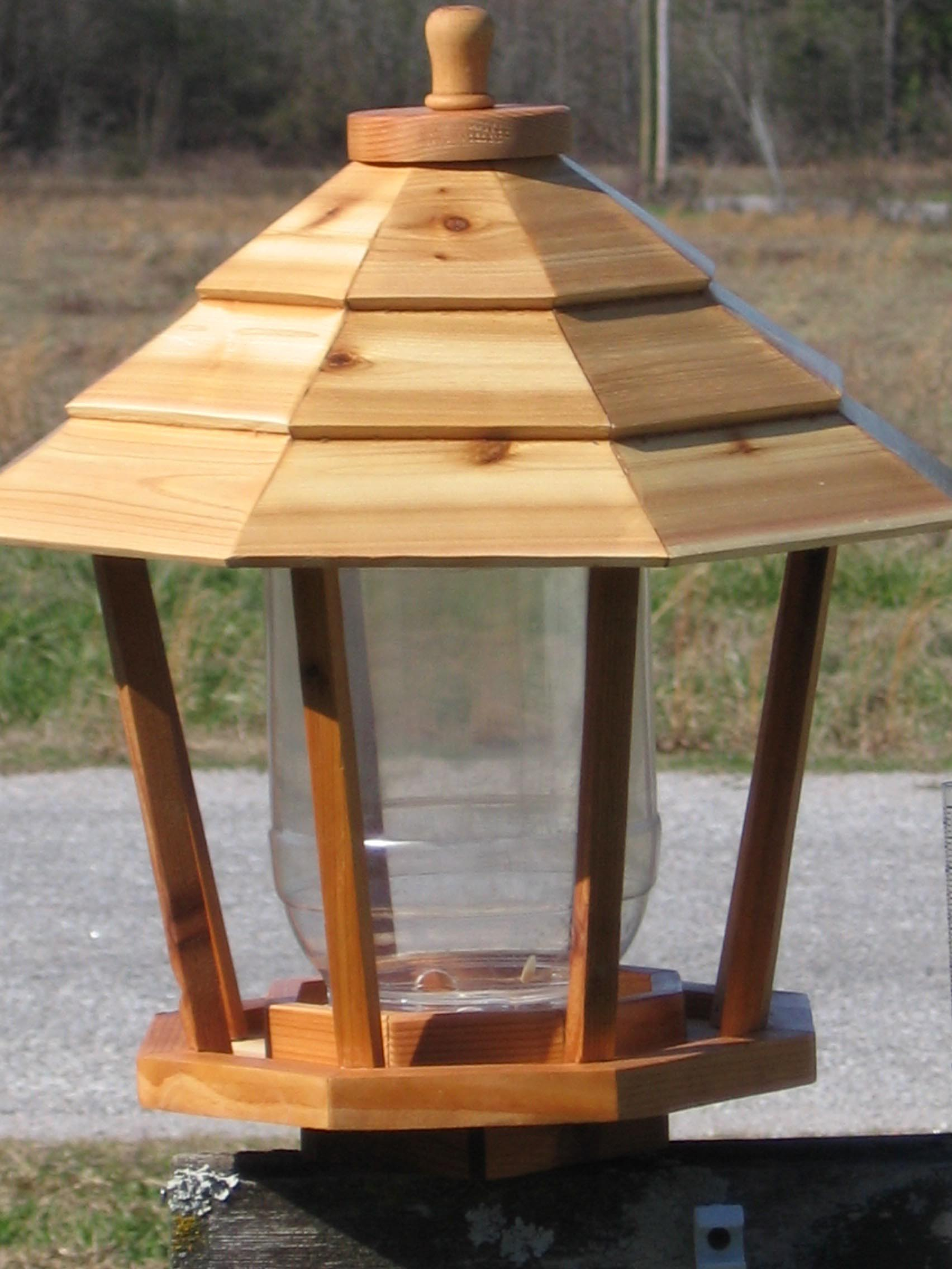 Large Cedar Gazebo Bird Feeder