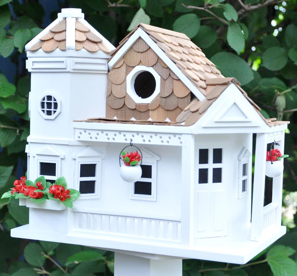Large White Bird Houses