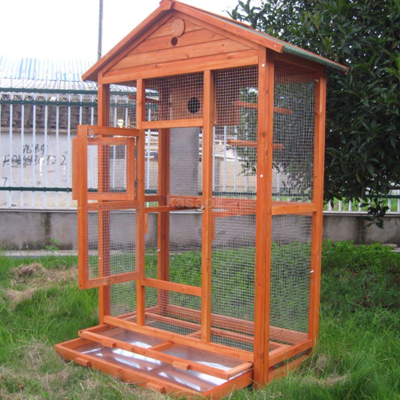 Large Wooden Bird Cages