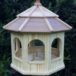 Large Wooden Gazebo Bird Feeders