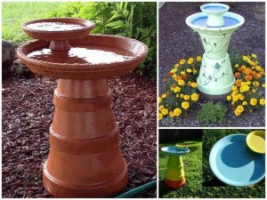 Make Homemade Bird Bath