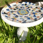 Make Mosaic Tile Bird Bath
