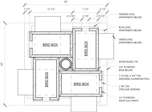 Martin Bird House Blueprints