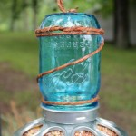 Mason Jar Bird Feeder DIY
