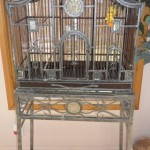 Metal Bird Cage Stand