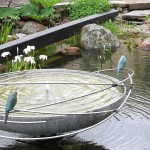 Modern Bird Bath Metal