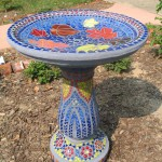 Mosaic Bird Bath Designs