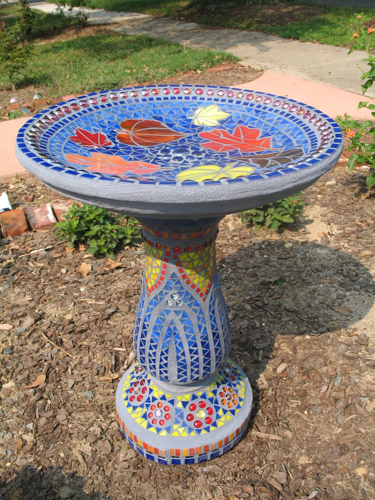 mosaic bird bath designs birdcage design ideas