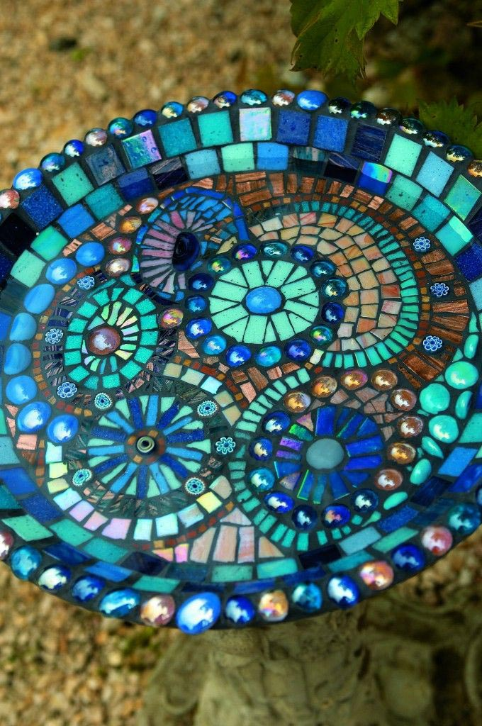 Mosaic Bird Bath Patterns