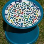 Mosaic Bird Bath Project