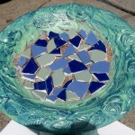 Mosaic Tile Bird Baths