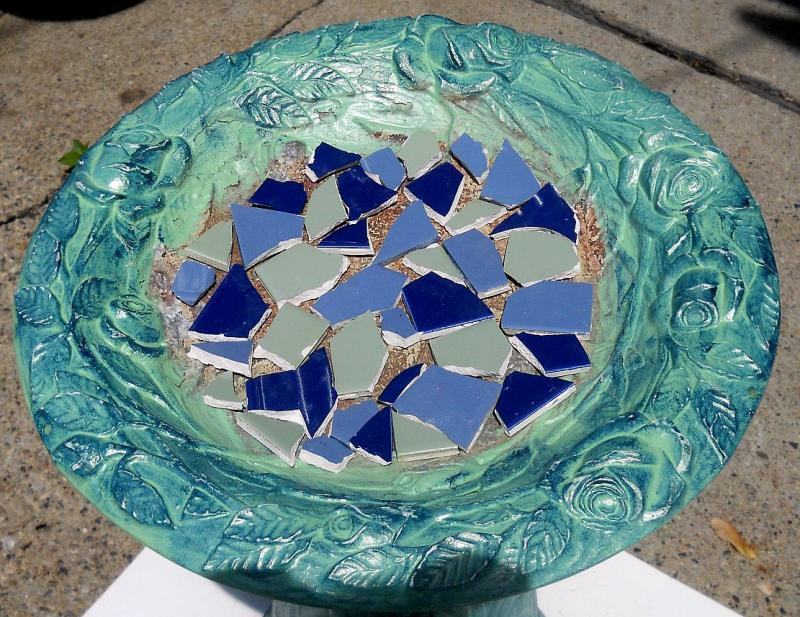 Mosaic Tile Bird Baths
