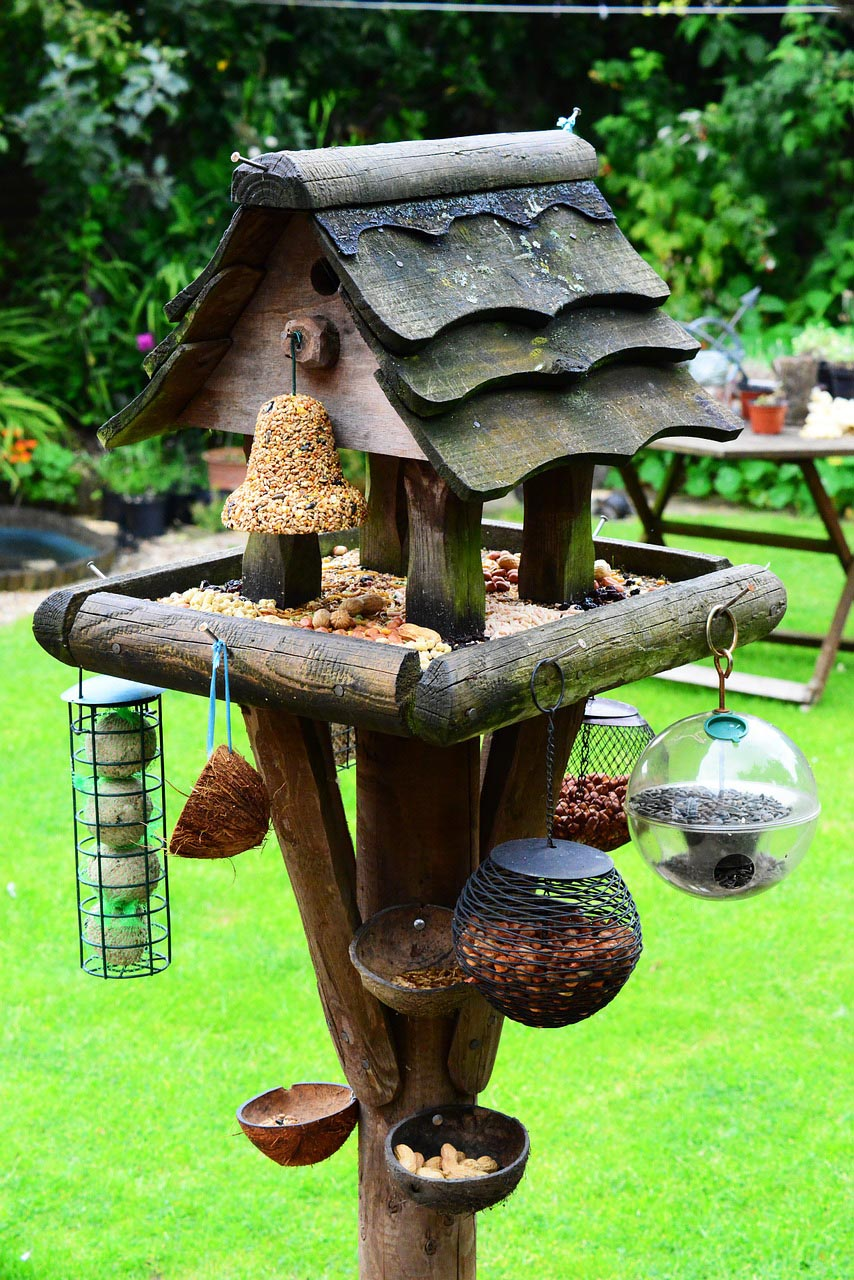 Multiple Bird Feeder Station