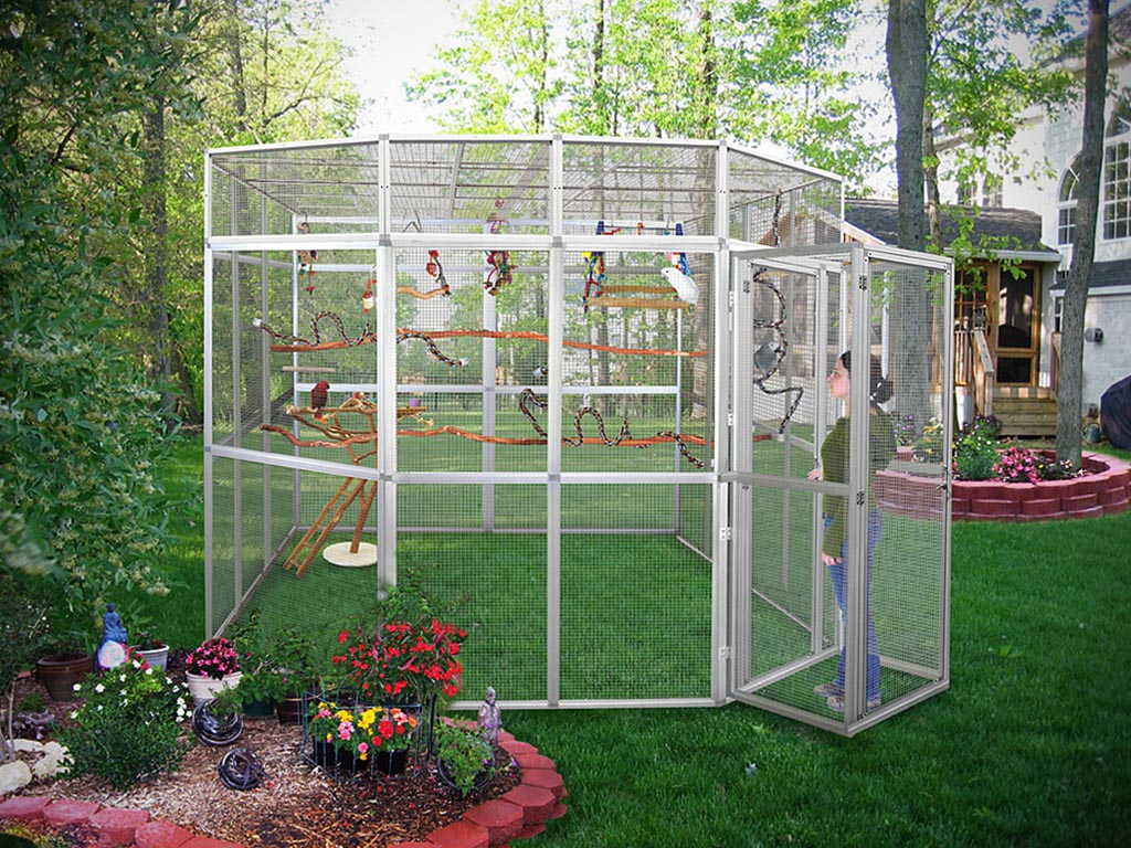 Outdoor bird aviary kits birdcage design ideas for Garden design kits