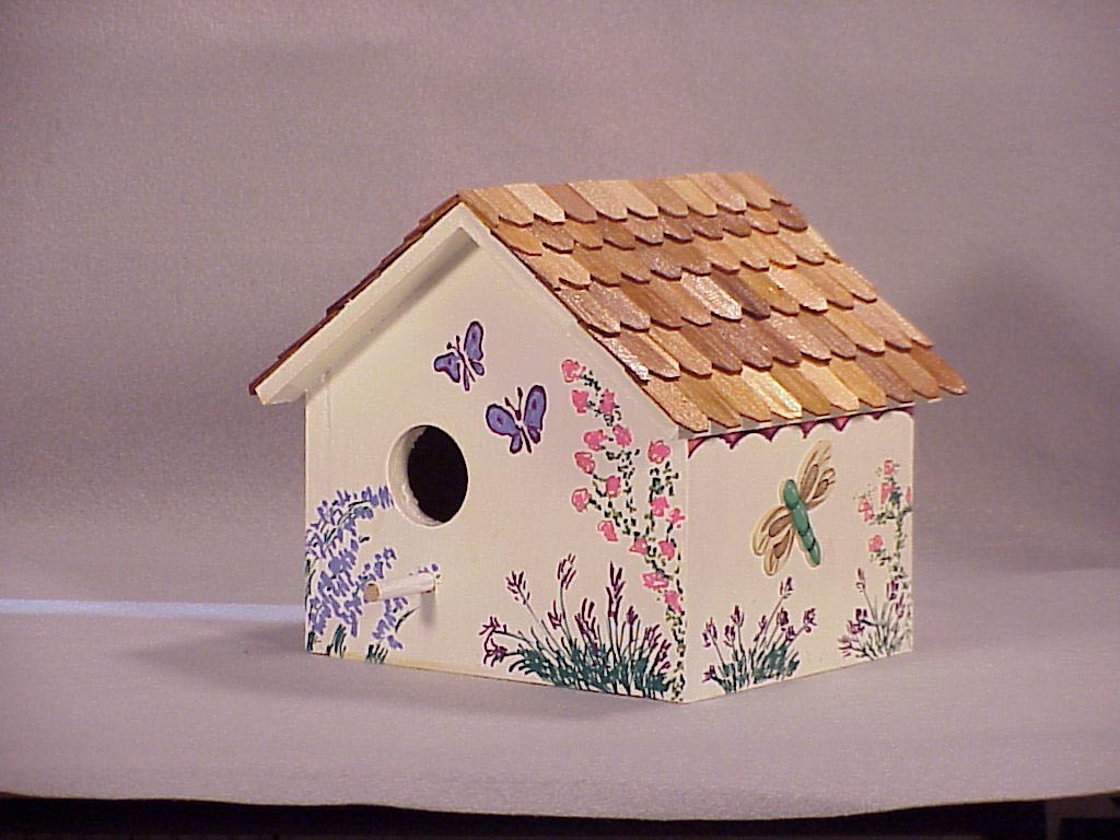 Painting Wooden Bird Houses