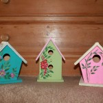 Plain Wooden Bird Houses