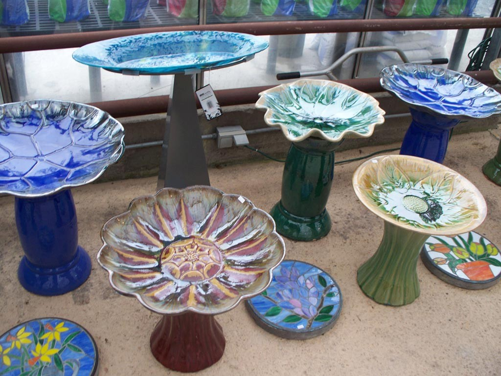 Recycled Glass Bird Bath