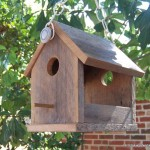 Rustic Wooden Bird Feeders