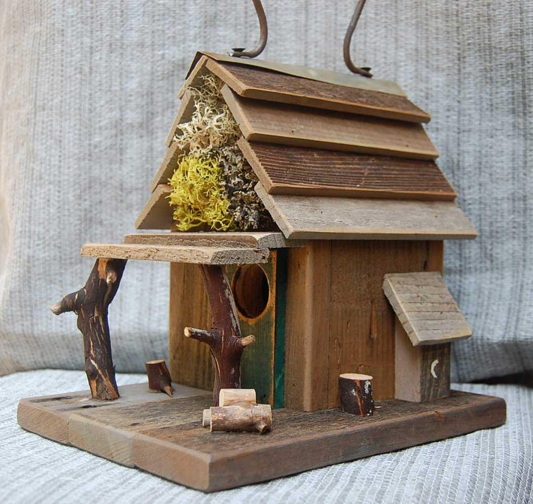 Rustic Wooden Bird Houses