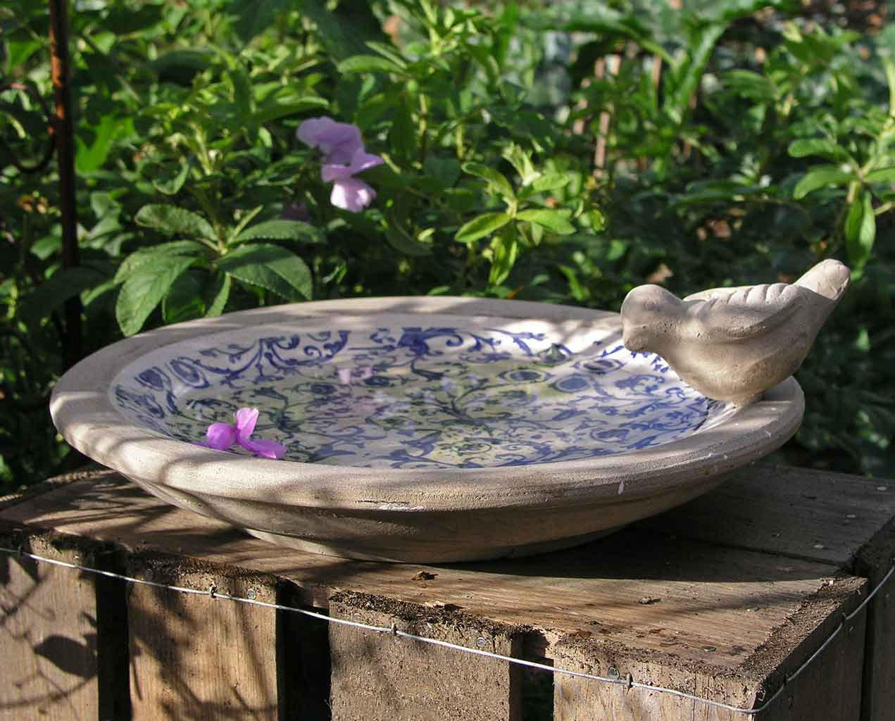 Small Ceramic Bird Bath