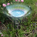 Small Glass Bird Bath