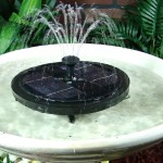Small Solar Fountain for Bird Bath