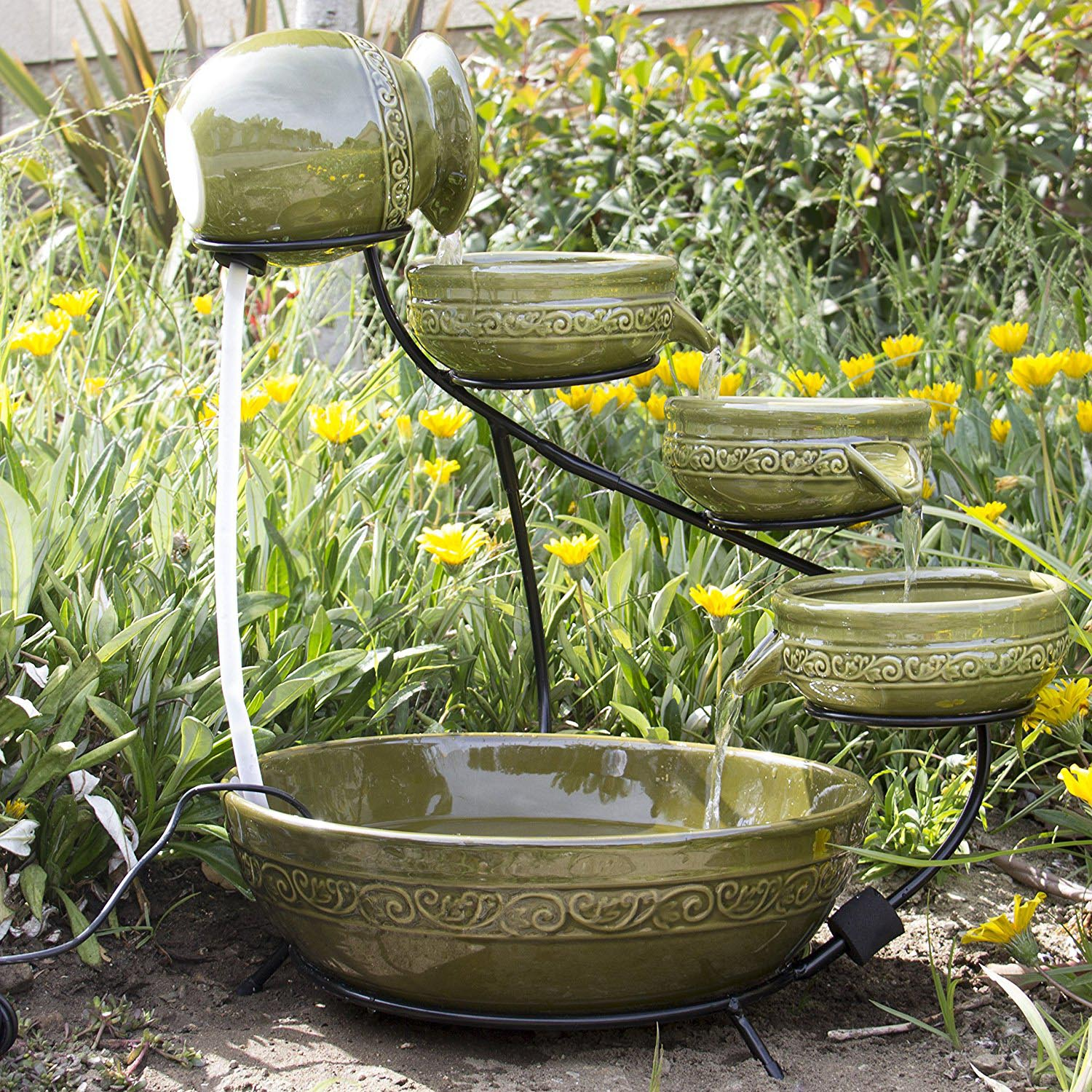 Smart Solar Kensington Gardens 2 Tier Solar Bird Bath Fountain