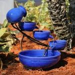 Smart Solar Sundance Mosaic Cascade Solar Bird Bath Fountain