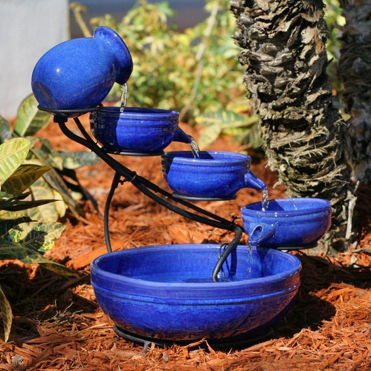 Smart Solar Sundance Mosaic Cascade Solar Bird Bath Fountain