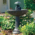 Solar Hummingbird Bird Bath