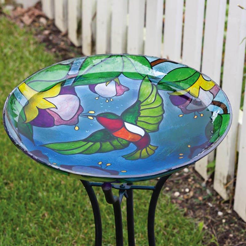 Stained Glass Bird Bath