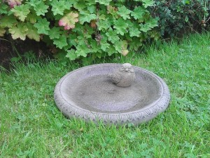 Stone Bird Bath Bowl