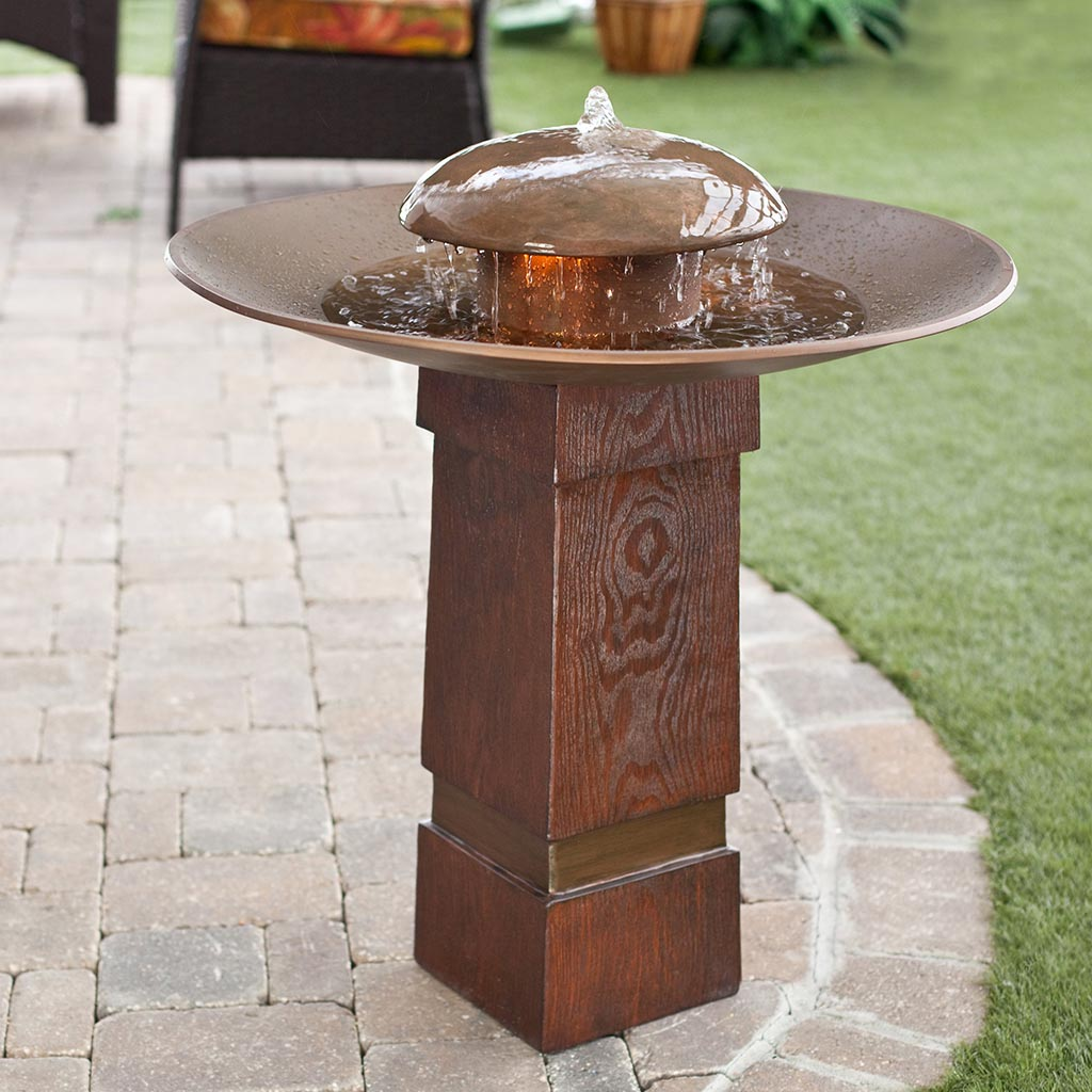 Stone Bird Bath Fountain
