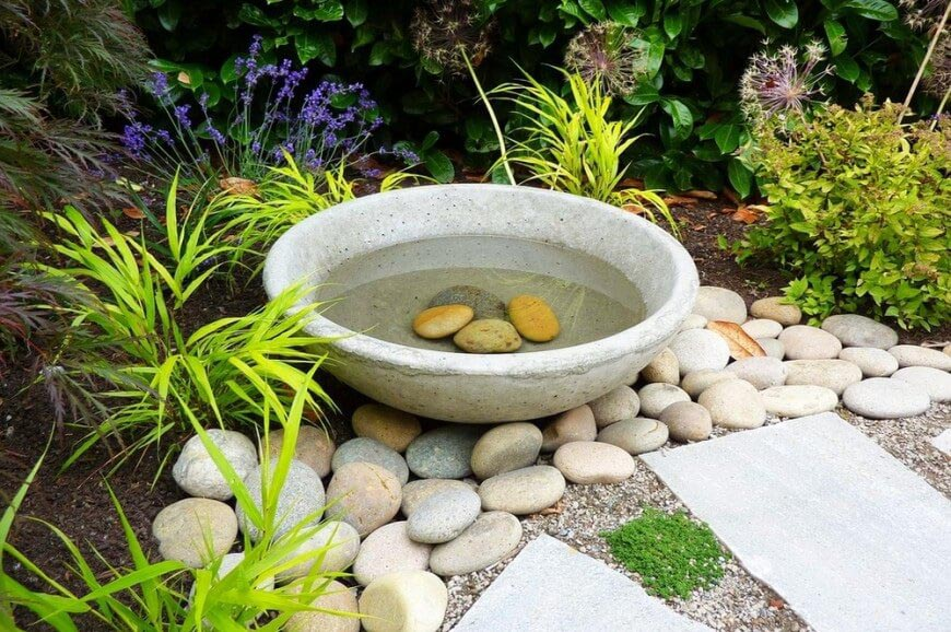 Stone Bird Bath Top