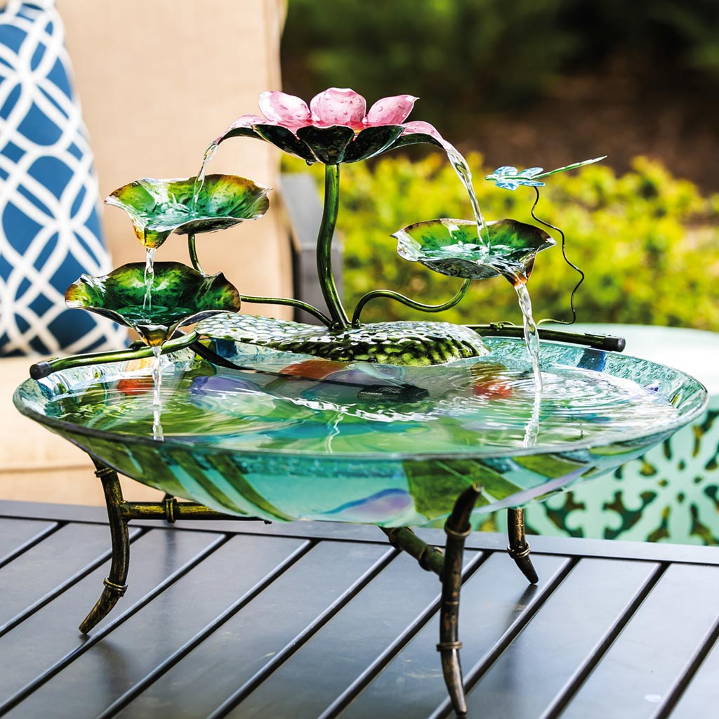 Table Top Bird Bath Fountain